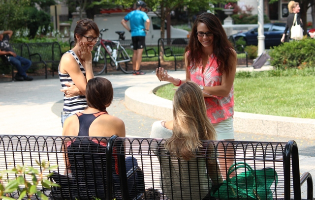 SFLA's Missy Martinez and Casey Tesauro during our outreach. Photo courtesy of SFLA.
